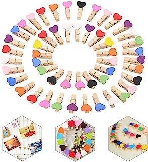 Mini Pinces, 100 pièces Clips Photo en Bois, Mini Pinces Clips Photos, Naturel Craft Pinces,Mini Pinces pour Décor, pour D...