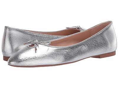 Stuart Weitzman Gabby Bow Flat (Silver Lame Nappa) Women