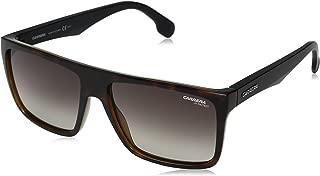 Men's Ca5039s CA5039S Rectangular Sunglasses, HAVANA MATTE BLACK/BROWN GRADIENT, 58 mm