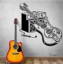 Etiqueta De La Pared Guitarra Eléctrica Calcomanía De Pared Mural Mural Decoración De La Música En El Hogar Instrumento Mu...
