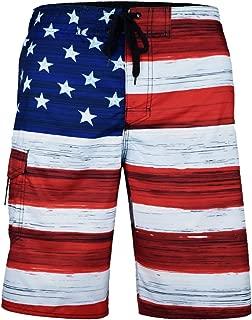 Men's American Flag Patriotic Board Shorts (Assorted Designs)