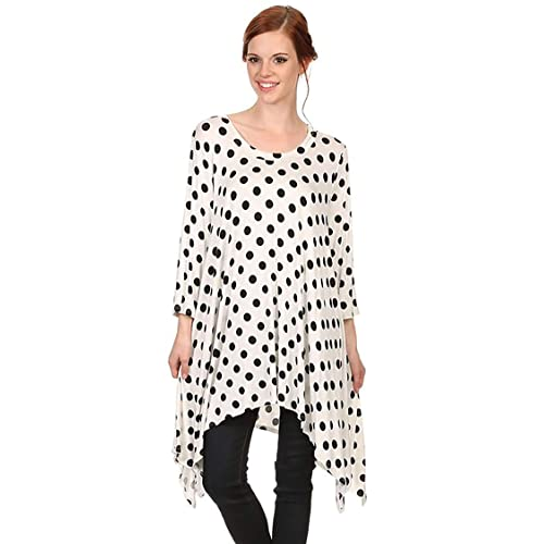 450a4b93048 Women's Solid Casual Loose Fit Round Neck Long Sleeves Tunic Top Tee  Dress/Made in