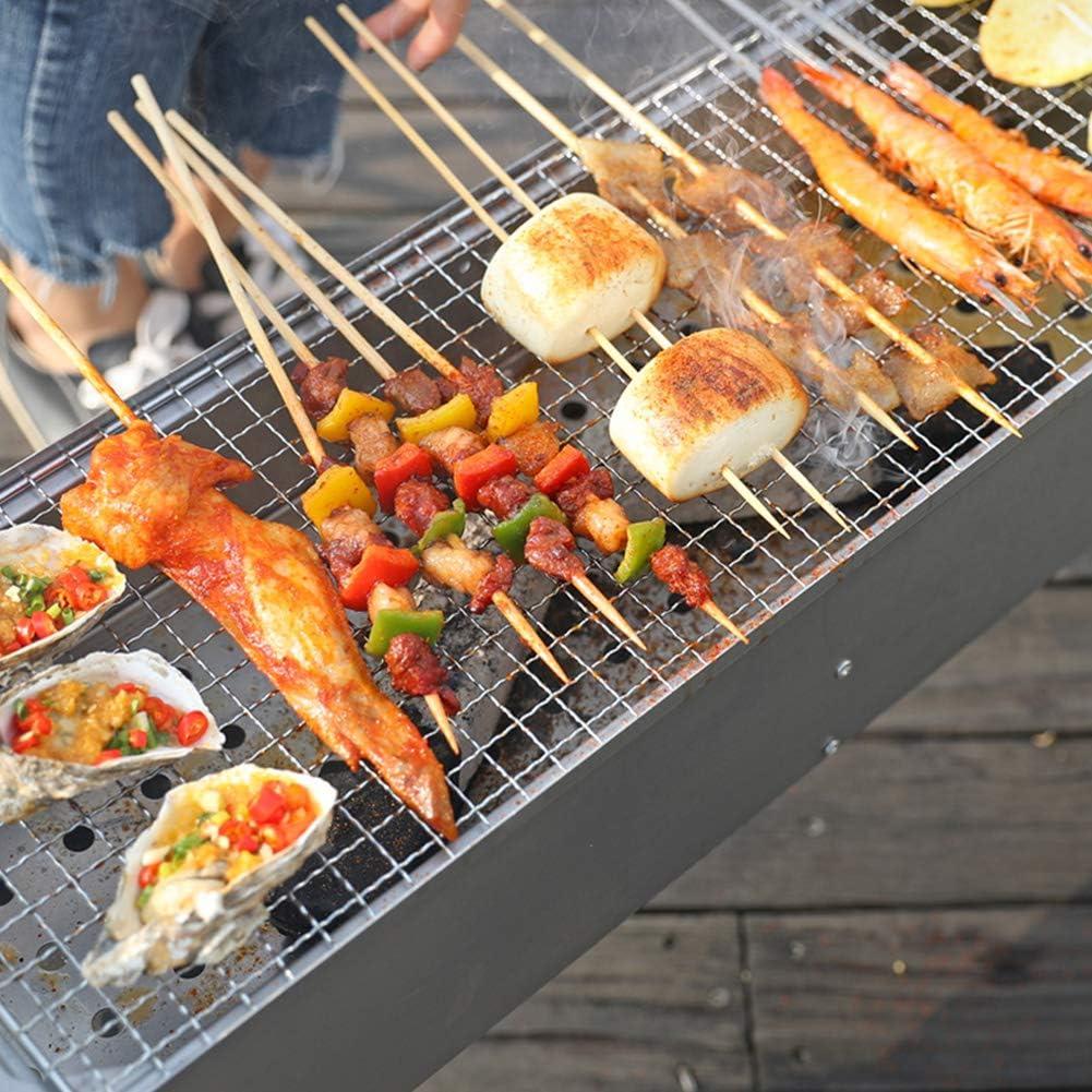 MENG Barbecue Portable Au Barbecue Épaissi Au Charbon De Bois pour Le Pique-Nique sur Le Balcon Et Le Jardin, Pique-Nique en Plein Air, Camping,Package 2 Package 5