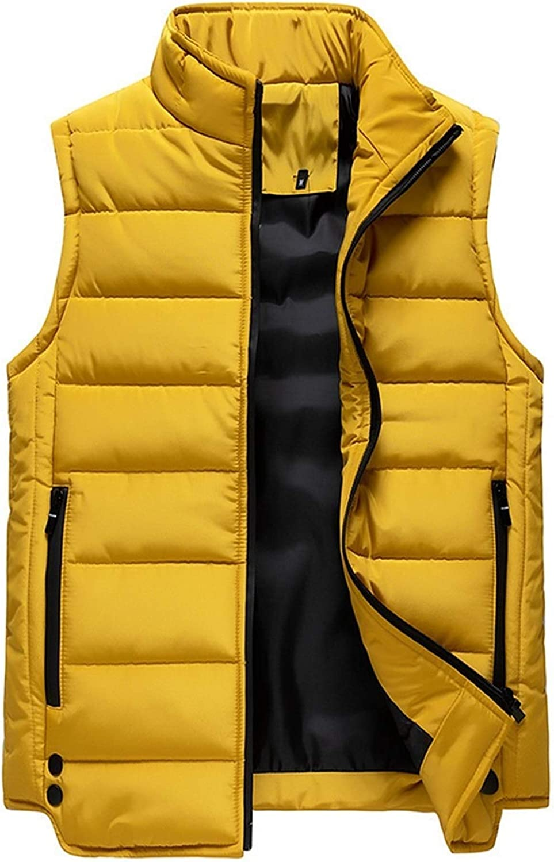 LYLY Vest Women Mens Vest Solid Autumn Warm Sleeveless Jacket Men Winter Casual Waistcoat Male Outwear Plus Size Vest Coats Vest Warm (Color : CC363 Yellow, Size : S)