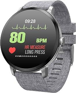 Pulsera de fitness inteligente de 1,3 pulgadas, pantalla a color, pulsómetro, presión arterial, oxígeno en sangre, monitor de sueño, llamadas, SMS, rastreador de actividad para mujeres y hombres