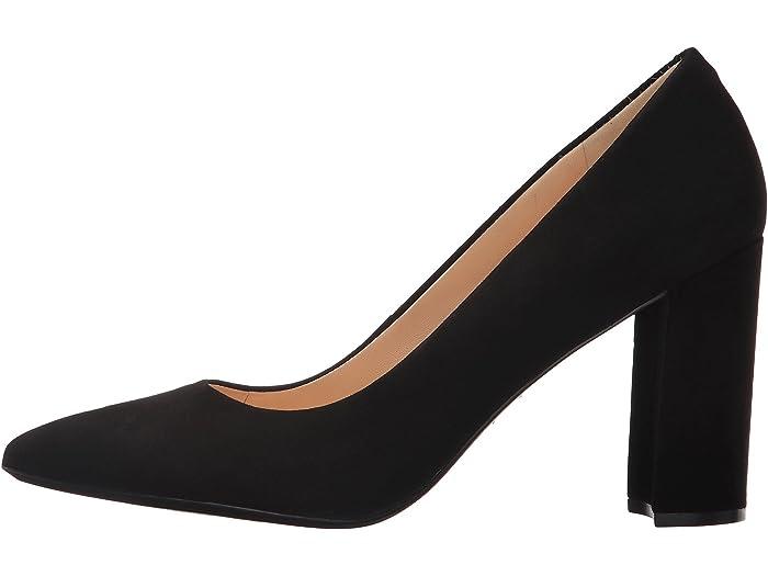 nine west black block heels