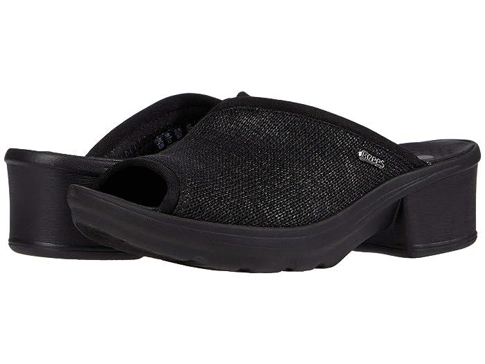 Bzees  Lulu (Black Loose Knit) Womens Sandals