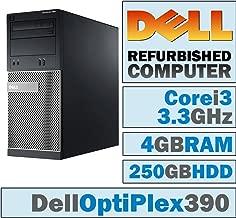 Dell OptiPlex 390 MT/Core i3-2120 @ 3.3 GHz/4GB DDR3/250GB HDD/DVD-RW/WINDOWS 7 PRO 64 BIT