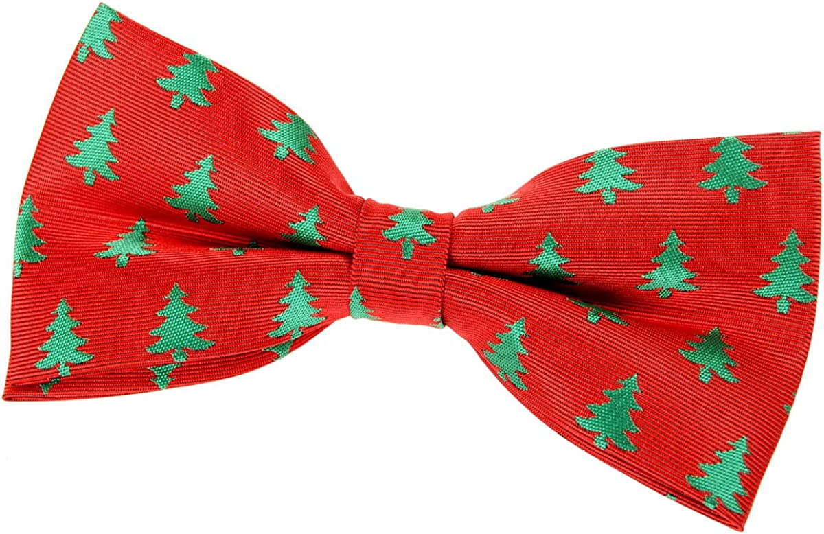 Retreez Christmas Tree Pattern Woven Max 58% OFF Tie Animer and price revision 5