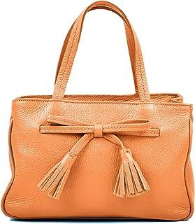 Carla Ferreri Cognac Satchel Bag For Women