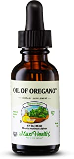 Kosher Oregano Oil by Maxi Health - Internal and External Antibacterial & Antifungal Support - Made in USA - 1 Oz. Bottle - The Ideal Supplement for Coughs, Sore Throats, Colds, and Skin