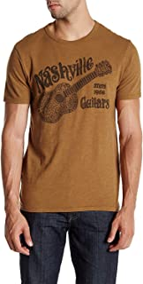 Lucky Brand Men's Nashville Guitars Blues Graphic Tee, Bronze Brown (XX-Large)