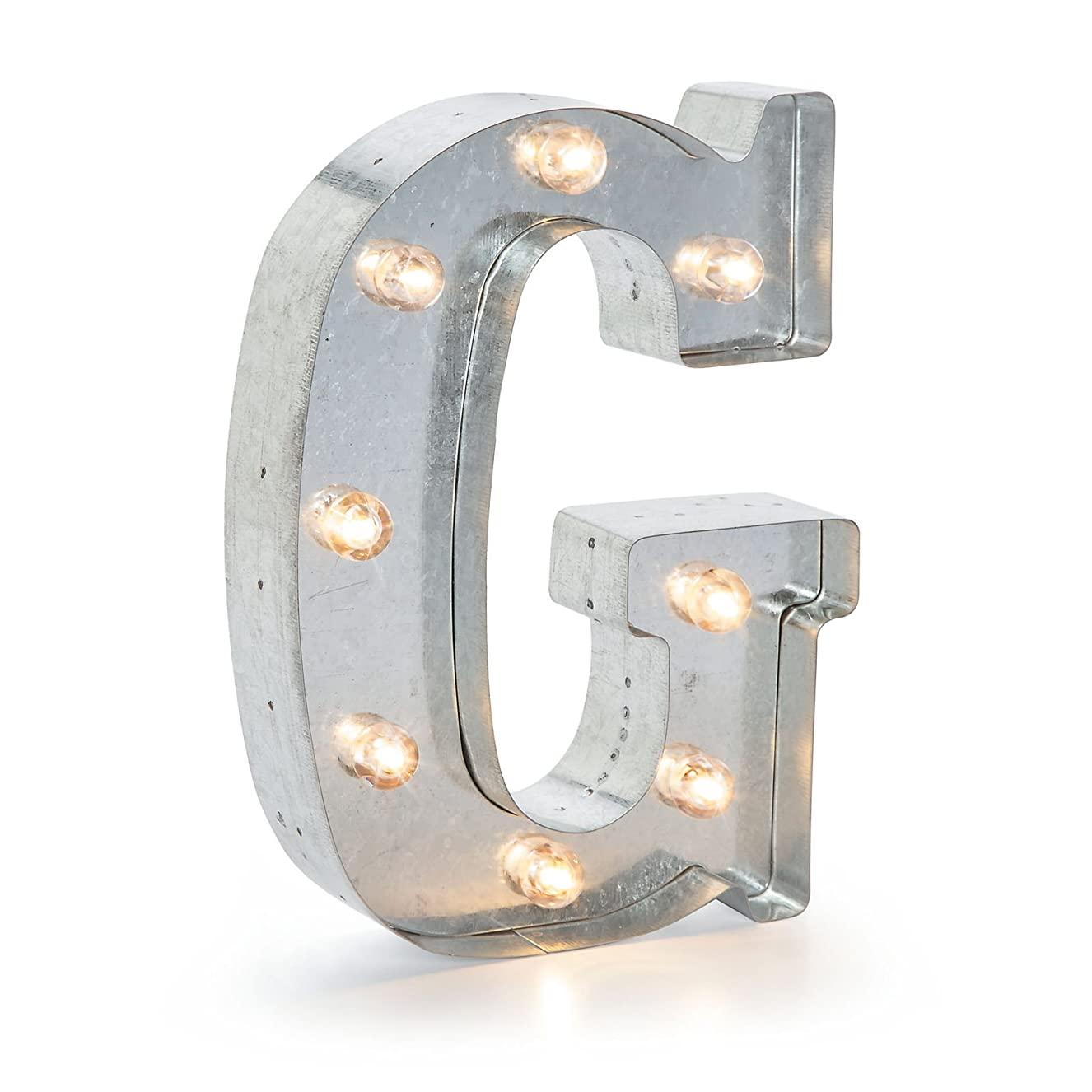 Darice Marquee Letters - G - Galvanized Silver - 9.875 inches cnqisiehki1871