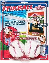 Hog Wild Stikball and Strike-Zone Target - Squishy Stikball Baseball Splats and Sticks to Strike-Zone Target - Ages 4+