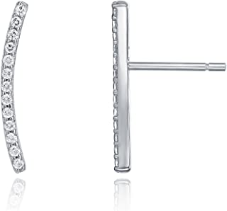 PAVOI 14K Gold Plated Ear Crawler - Cuff Earrings Hypoallergenic Sterling Silver Stud Ear Climber Jackets