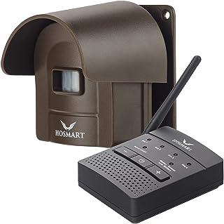1/4 Mile Long Range Hosmart Rechargable Wireless Driveway Alarm System & Driveway Alert System Outdoor Weatherproof Securi...