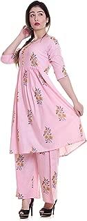 Jaitik Creations Cotton Kurti with Palazzo Pants Set for Women's | Kurti with Palazzo Pants Set for Girls-(JCK00)