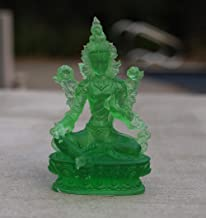 DhramObjects Tibetan Buddhist Green Tara Resin Statue Mother Goddess (5 Inches)