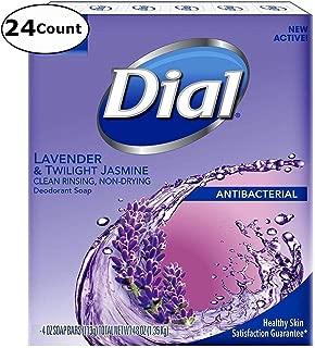 Dial Lavender & Twilight Jasmine Antibacterial Deodorant Soap, 4 oz. Bars -24 Count