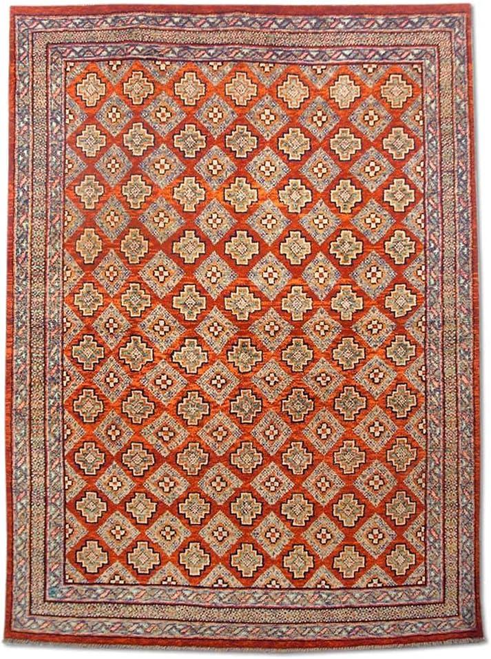 Pak Persian Rugs Modern Handmade red Rug half At the price Gabbeh Burgundy Wool