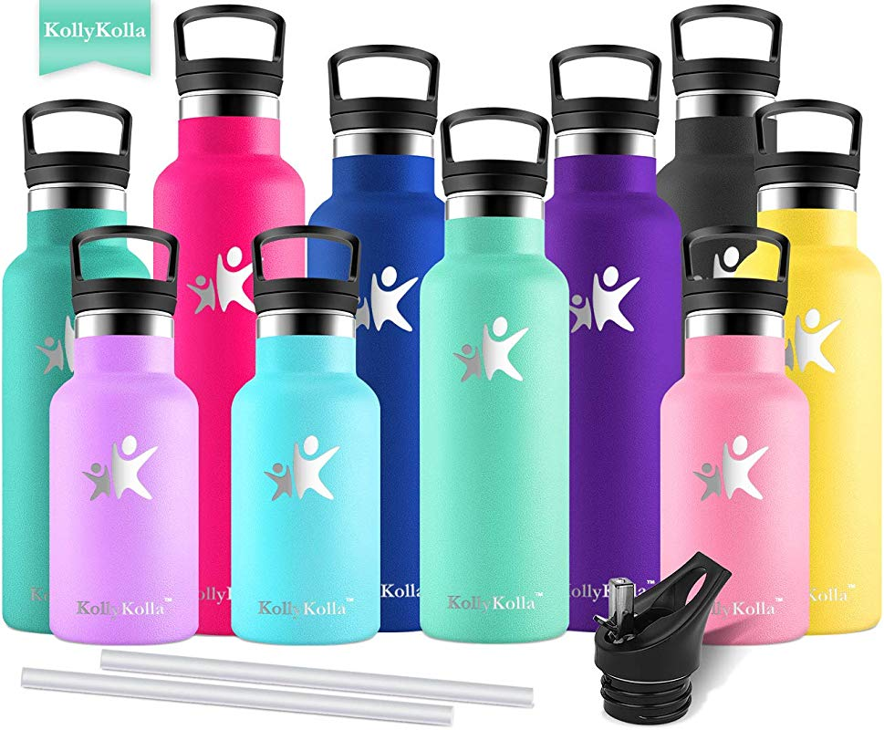 KollyKolla Vacuum Insulated Water Bottle Metal Water Bottles With Straw Filter Hot Cold Drinks Bottle Stainless Steel Thermoflask Leakproof Kids Sports Bottle 350ml 500ml 600ml 750ml