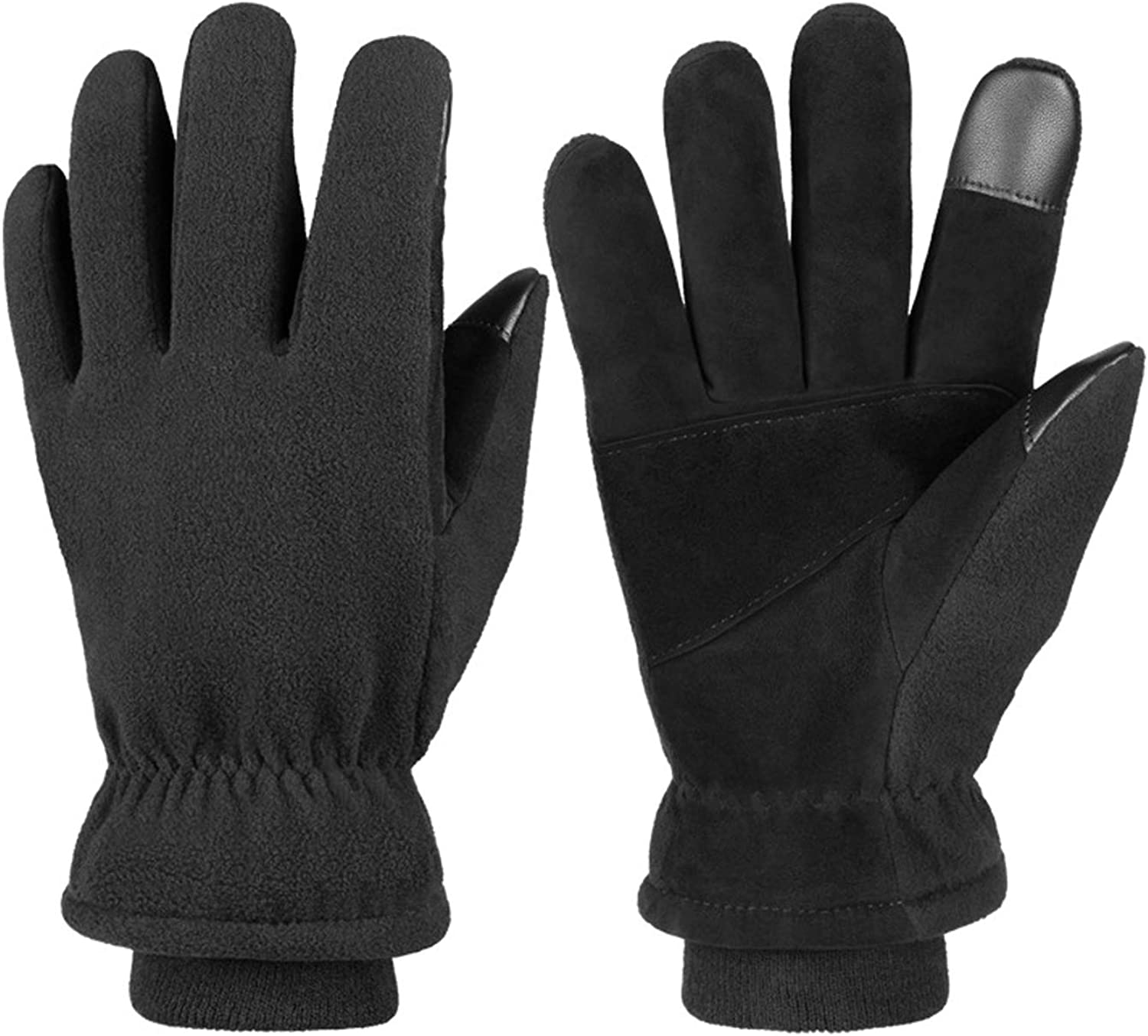 Two Layers of Deerskin Winter Cold Protective Warm Gloves Waterproof Cycling Windproof Skiing for Outdoor Sport and Work