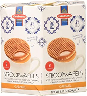 Daelmans Stroopwafels Wafers In Hexa Box 8.11 Ounce (Pack of 4)