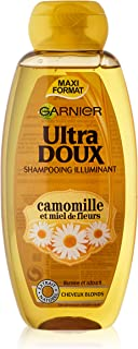 Garnier Haarverzorgingsproduct, ultrazacht haarverzorgingsmiddel, shampoo met kamille-extract en bloemenhoning, 400 ml, 1 ...