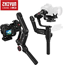 Zhiyun Crane 3 LAB 3-axis Handheld Gimbal DSLR Camera Stabilizer for Sony A7M3 A7R3, Canon 1DX II 6D 5D IV, Panasonic GH4 GH5 GH5S, Nikon D850 w/Versatile Structure, ViaTouch Zoom/Focus Control, Wirel