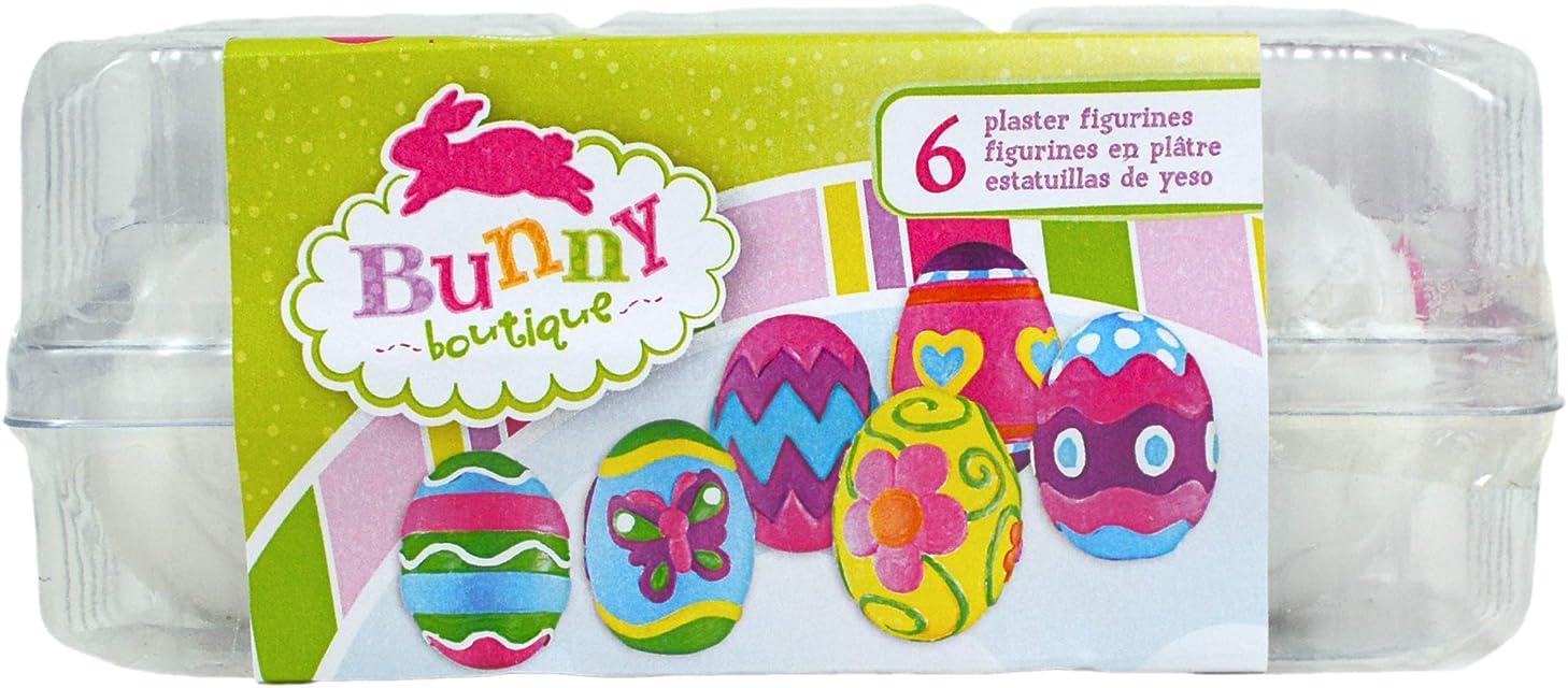Colorbok 73112 Bunny Boutique Plaster Value Pack Eggs Paint Your Own