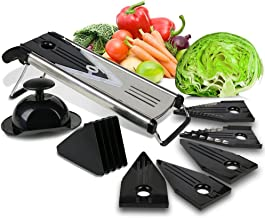 Premium Mandoline Fruit & Vegetable Cutter for Home and Business-Cheese Grater, Potato Slicer | Vegetable Chopper: Include...