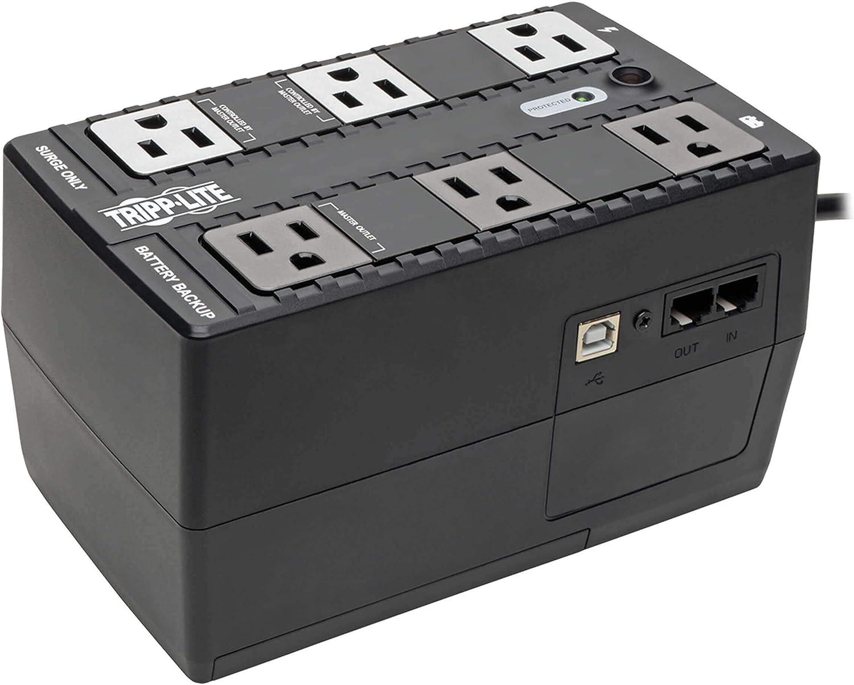 Tripp Lite 350VA UPS Battery Backup, 180W Eco Green, USB,...