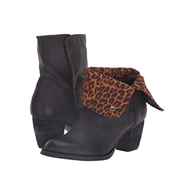 Sbicca Maleena (Black/Tan/Leopard) Women