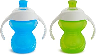 Munchkin Click Lock Bite Proof Trainer Cup, Blue/Green, 7 Ounce, 2 Count