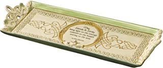 Grasslands Road FBA_461121 Celtic 5 15-Inch Friends & Family. Claddagh Cheese Tray with Stand, Silver