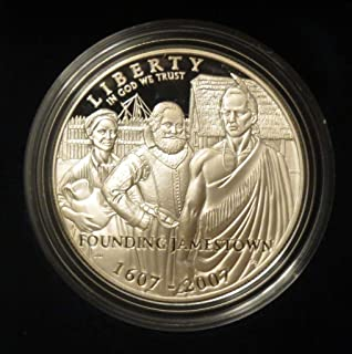 2007 P Jamestown 400th Anniversary Commemorative SILVER PROOF Dollar Uncirculated US Mint