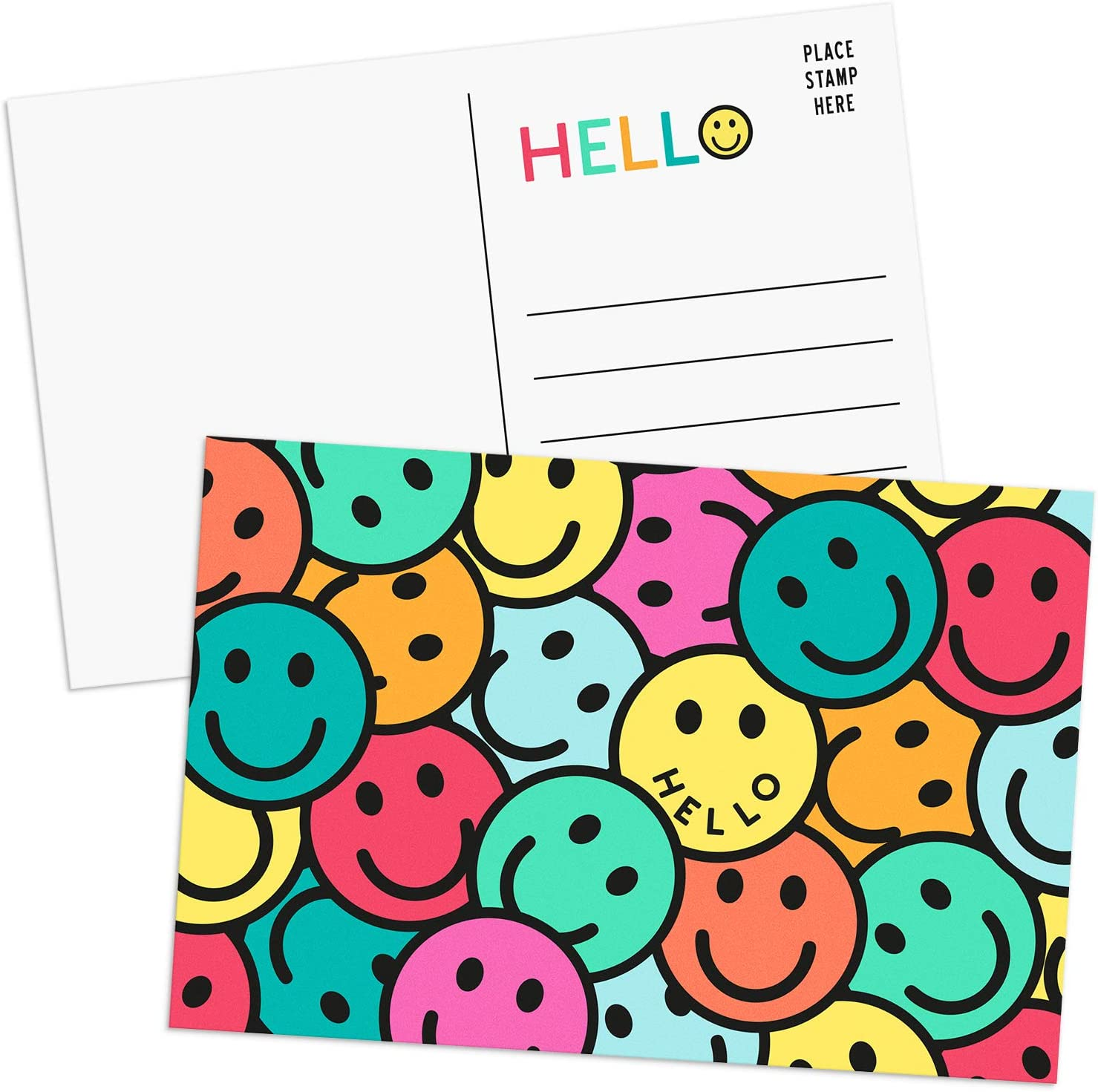 Sweetzer Orange Hello Genuine Free Max 58% OFF Shipping Postcards Pack Cards 4x6 Postc 60 Post