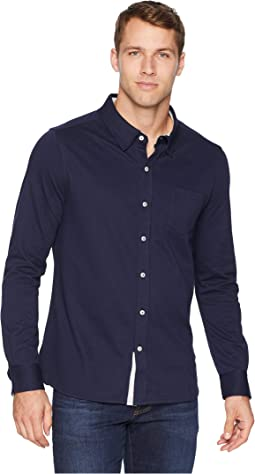 Eagle Long Sleeve Knit Button Down
