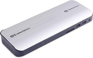 Certifierat Cable Matters aluminium Thunderbolt 3-dockningsstation med HDMI 2.0 och 60 W bärbar datorladdning för Windows ...