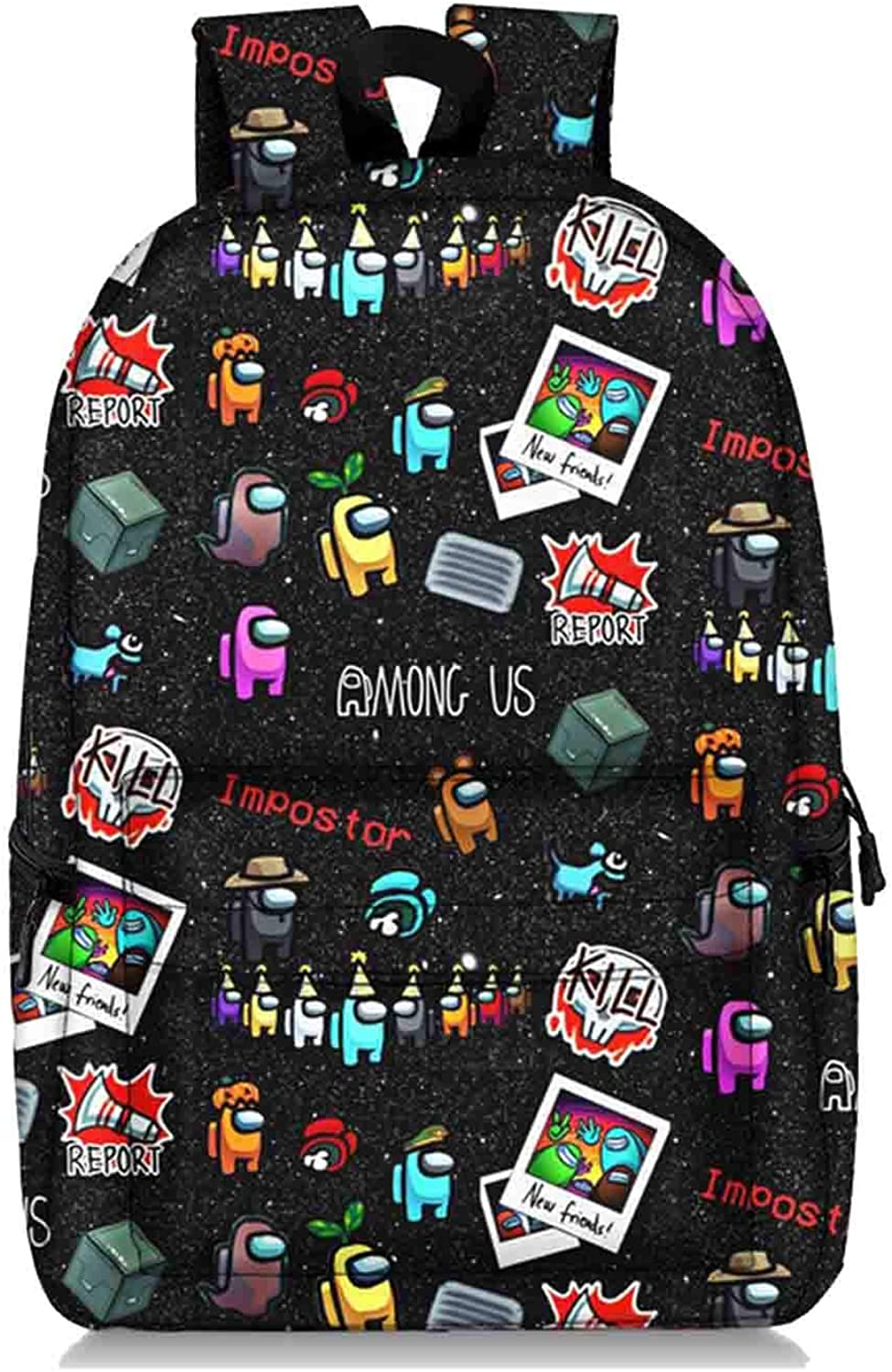 Among Us Printed Unisex Backpack High-Capacity Wear-Resistant Book Bags for Boys and Girls Daypack