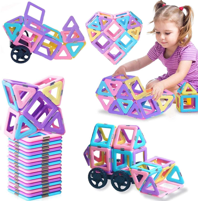 Regular store BOZTX Manufacturer direct delivery Castle Magnetic Building Edu Tiles 49pcs Blocks