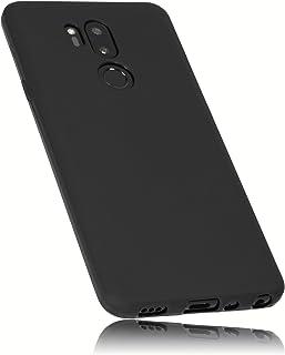 mumbi Hülle kompatibel mit LG G7 ThinQ Handy Case Handyhülle, schwarz
