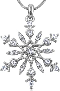 Best crystal snowflake pendant necklace Reviews