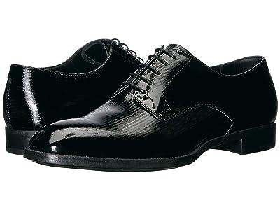 Giorgio Armani Mini Chevron Patent Leather Formal Shoe (Black) Men