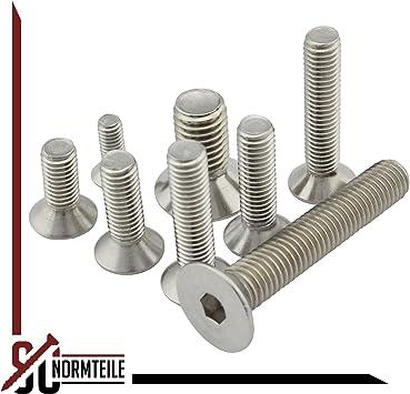 - DIN 7991 // ISO 10642 Werkstoff: Edelstahl A2 V2A SC-Normteile/® 25 St/ück Senkschrauben SC7991 - M4x25 - Vollgewinde Senkkopfschrauben mit Innensechskant ISK