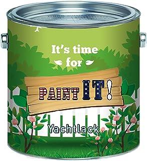 Paint IT! langfristiger 2-Komponenten Bootslack Set für GFK, Polyester und Kunststoff Yachtlack inkl. Härter GLÄNZEND Farbauswahl und klarlack Bootsfarbe Yachtfarbe Lack