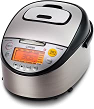 Tiger JKT-S10U-K IH Rice Cooker with Slow Cooking and Bread Making Function Stainless Steel, Black 5.5-Cup