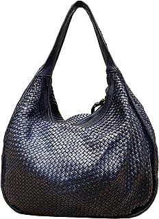 BZNA Bag Sanna blau Italy Designer Damen Handtasche Schultertasche Tasche Leder Shopper Neu