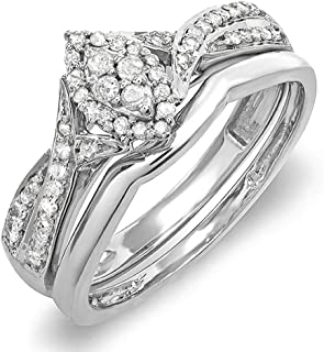 Best diamond marquise engagement ring and wedding band set Reviews