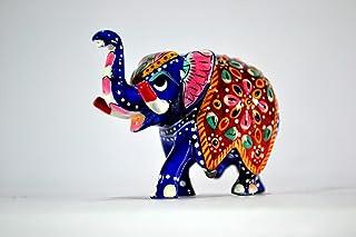 CraftVatika Elephant Figurine, India Gorgeous Elephant Decor Gift - Lucky Animal Statues